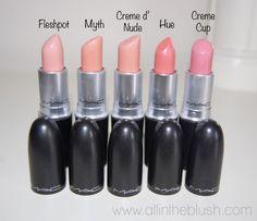 MAC Nude Lipsticks love the crime d nude