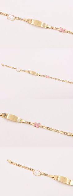 Bracelets 84606: Childrens Baby Kids Engravable Id Hello Kitty Butterfly 14K Yellow Gold Bracelet -> BUY IT NOW ONLY: $298.15 on eBay!