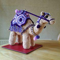 Ravelry: ChrisLudlow's Nabil the Egyptian camel Giraffe Crochet, Crochet Cat Pattern, Crochet Animal Patterns, Stuffed Animal Patterns, Amigurumi Patterns, African Flower Crochet Animals, Crochet Flowers, Knitting Projects, Crochet Projects