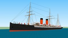 RMS Umbria - 3D Warehouse - Visit my account at the 3D Warehouse! More than 50 famous and lesser known models of ocean liners, for free!!   All rights reserved  © Lucas Gustaffson (2017)