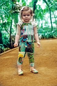 EFVVA hand painted kids wear: TROPICAL DREAM