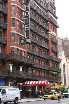 CULTURAL LANDMARK: The Chelsea Hotel, located on W 23rd Street between Seventh and Eighth Avenues, has been home to many artists, poets and musicians over the years including: Bob Dylan, Janis Joplin and Leonard Cohen. The building is now up for sale. (Tara MacIsaac/The Epoch Times)