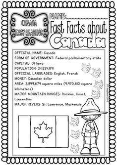 CANADA ( READY TO PRINT EASY READINGS AND WORKSHEETS) - TeachersPayTeachers.com Social Studies Activities, Teaching Social Studies, Canada For Kids, Canada 150, Canadian History, Canadian Law, Native Canadian, Canada Day Crafts, Canada Party