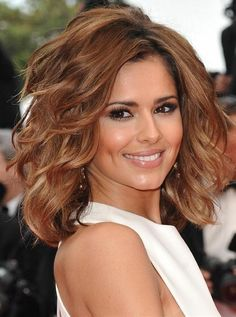 Cheryl Cole: Medium Curly Hair - Click image to find more Hair & Beauty Pinterest pins