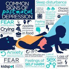 Common Signs of Post partum depression