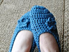 free slipper pattern from Cre8tion Crochet