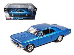 1966 Chevrolet Chevelle SS 396 Blue 1/24 Model Car by Maisto *** See this great product. (This is an affiliate link) #GiftBaskets