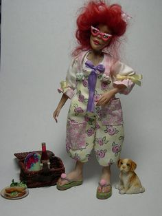 Miniature Poseable Dollhouse Doll by LoreleiBlu on Etsy, $75.00