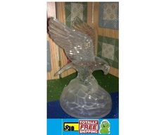 Glass Eagle Standing on Rock 7 inches tall $30.00