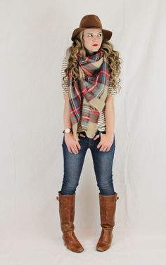 don't get mad, get plaid || plaid scarf for day