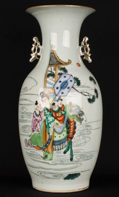 China 20. Jh. A Chinese Famille Rose Baluster Vase - Vaso Cinese Chinois Fencai