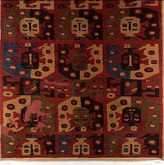 Camelid Hair Panel, Huari culture, Peru, 10th-12th century. Metropolitan Museum of Art, online collection.
