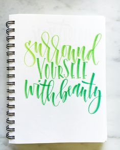 Surround yourself with beauty  #tombow #tombowusa #tombowpro #tombowmarkers #tombowbrushpen #tombowdualbrushpens #ombre #quote #handletter #handletters #handlettered #handlettering #handletteredABCs #handletteredquote #abcs_quote #takerisks #brushpen #brushletter #brushletters #brushlettered #brushlettering #dailytype #typostrate #Typism #letterarchive #handletteringpractice #brushpen #brushmarker #motivation by lshannondesigns