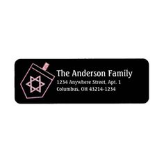 Dreidel Hanukkah Address Labels d6