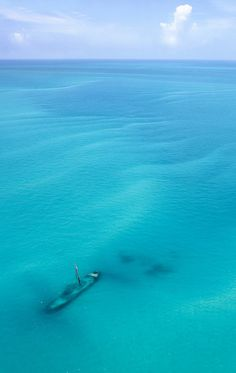 Shipwreck near the Dry Tortugas National Park, 70 miles west of Key West.