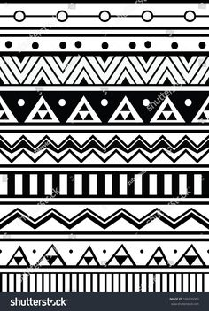 Find Abstract Geometric Seamless Pattern Aztec Style stock images in HD and millions of other royalty-free stock photos, illustrations and vectors in the Shutterstock collection. Mandala Doodle, Mandala Drawing, Mandala Art, Doodle Patterns, Zentangle Patterns, Mandala Pattern, Tribal Pattern Art, Textile Pattern Design, Aztec Drawing