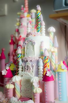 Rainbow Castle cake by CforCupcake, via Flickr
