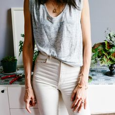 high rise white denim from madewell