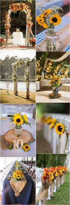 23 Bright Sunflower Wedding Decoration Ideas For Your Rustic Wedding! is part of Sunflower wedding If you ask me about brides' favorite flowers, sunflowers are definitely something you cannot negl - Trendy Wedding, Unique Weddings, Perfect Wedding, Fall Wedding, Our Wedding, Dream Wedding, Rustic Weddings, Wedding Ceremony, Wedding Arches
