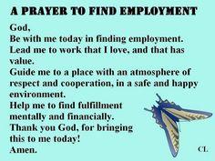 Prayer for employment