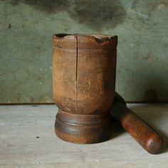 wood mortar & pestle