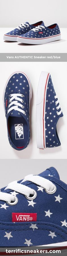 gorgeous Vans AUTHENTIC Sneaker red/blue #Sneakers
