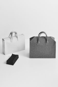 HAND BAG / BUREL FACTORY by DANIEL VIEIRA DESIGN, via Behance (burel is a fabric of exceptional qualities made in Serra da Estrela, Portugal)