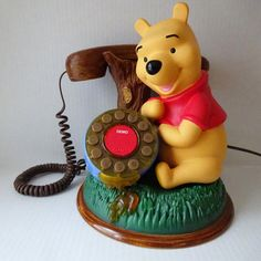 Winnie The Pooh Telephone Vintage talking childs by rubyinthesky