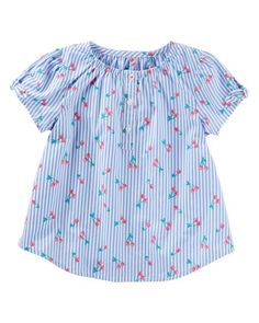 Toddler Girl Cap Sleeve Cherry Top from OshKosh B'gosh. Shop clothing & accessories from a trusted name in kids, toddlers, and baby clothes.