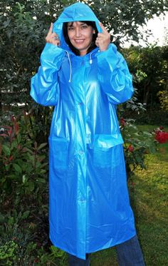 Raincoats For Women Long Sleeve Key: 3195902903 Vinyl Raincoat, Raincoat Jacket, Pvc Raincoat, Plastic Raincoat, Yellow Raincoat, Raincoat Outfit, Best Rain Jacket, Rain Jacket Women, Periwinkle