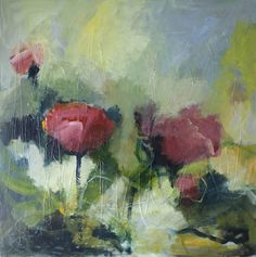 Galleri - Kari Glesnes Jørgensen Abstract Flowers, Abstract Art, Painting Inspiration, Painting & Drawing, Flower Art, Poppies, Watercolor, Drawings, Artist