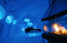 Here's a cool choice. Located just a ten-minute drive from historic Québec City, the Hotel de Glace is the only ice hotel in North America entirely made of ice and snow. Some rooms feature fires, while others have their own spa. Nearby winter activities include skiing, ice skating, snowshoeing and dog sledding – which will leave you ready to turn in for the night after warming up first in the onsite sauna. From £120 per night. [Photo: Hotel de Glace]