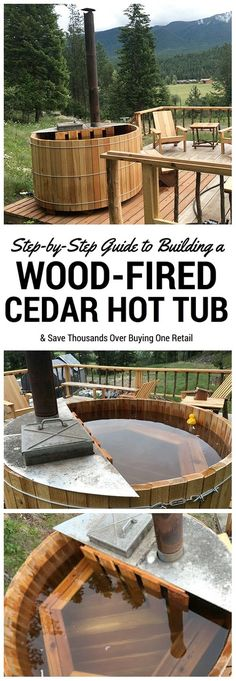 Rather than buying a pre-made wood fired cedar hot tub, we decided to make our own! It was simple, and we made a video series documenting how we did it. by debora