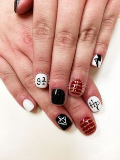 Ideas for house party outfit fashion harry potter Harry Potter Nails Designs, Harry Potter Nail Art, Gel Nails, Acrylic Nails, Manicure, White Nail Polish, White Nails, Wonder Woman Nails, Diy Christmas Nail Art