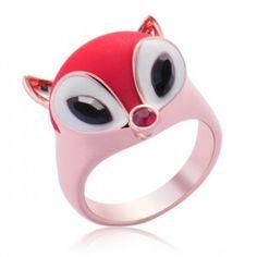Sassy Fox Ring - Black/Red/White