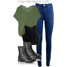 Teen Wolf - Cora Hale Inspired Outfit with dark jeans by staystronng on Polyvore featuring Elizabeth and James, Acne Studios, tw and CoraHale