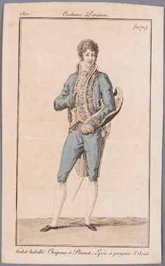 A formal dress presumably for court wear 1810 costume parisien