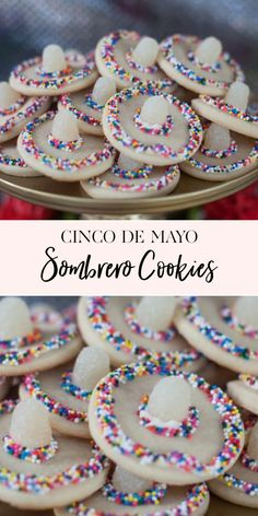 How to Make Cinco de Mayo Sombrero Cookies | Celebrate Cinco de Mayo with this fun and easy cookie recipe || JennyCookies.com #cincodemayo #cookies #jennycookies