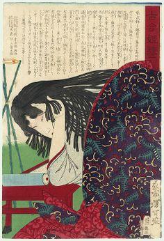 Murasaki Shikibu by Yoshitoshi (1839 - 1892)
