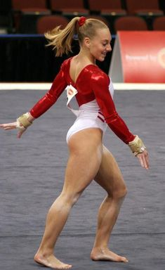 A picture of Samantha Peszek. This site is a community effort to recognize the hard work of female athletes, fitness models, and bodybuilders. Gymnastics Poses, Gymnastics Pictures, Artistic Gymnastics, Gymnastics Girls, Gymnastics Leotards, Female Gymnast, Athletic Women, Fit Chicks, Sport Girl