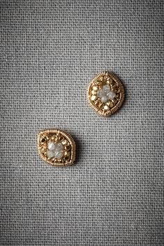 Lilliputian Earrings from @BHLDN Weddings. raw diamonds and gold. love.