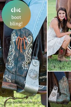 Handcrafted leather fringe accessories for western boots to make any pair of boots your fancy one. They make wonderful stocking stuffers too. Great collaboration with Megan Jolley Photography.