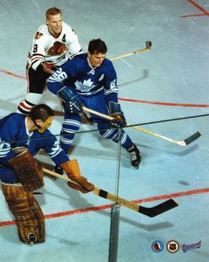Allen Stanley / Terry Sawchuk - Toronto Maple Leafs - NHL Hockey Pictures & Autographs