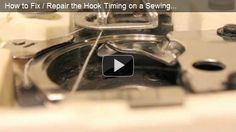 This video demonstrates how to fix / adjust / repair the timing of the hook on a sewing machine. If the thread from your needle isn't getting caught by the hook that rotates around, this video explains what to adjust to fix that. Requires some very basic tools and takes 15-30 minutes - maybe less.