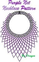 Beaded Purple Net Necklace Pattern & Kit. (Click on picture to take you to this item on our website). $14.95