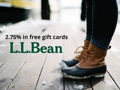 April showers bring May flowers.  Beat the mud this Spring by browsing L.L.Bean's seasonal gear. Shop through Rewardica and earn 2.75% back in free gift cards.