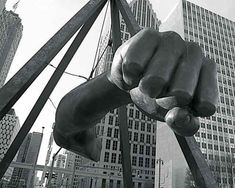 Detroit Photography The Famous Fist of Joe Louis by EclecticForest, $45.00
