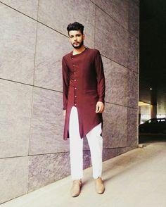 Kurta Pathani Kurta, Kurta Patterns, Nehru Jackets, African Fashion, Bell Sleeve Top, Long Coats, Menswear, Mens Fashion, Danish