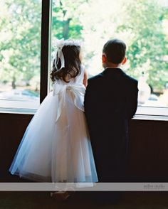 Miller Studio Photography | Flower Girl & Ring Bearer (or mini bride & groom?!)