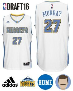 Keep your equipment fresh with this Men s 2016 Draft Nuggets  27 Jamal  Murray Home White 1a5d44d10